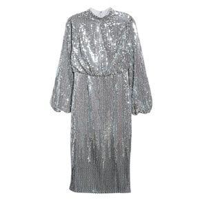 Ted Baker Ophilla Sequin Long Sleeve Midi Dress